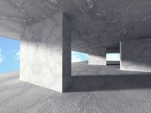 Abstrakt konkret konstruktionsarkitekturbakgrund Geometri Royaltyfri Bild