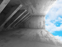 Abstrakt konkret konstruktionsarkitekturbakgrund Geometri Arkivfoton