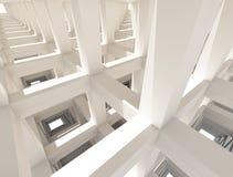 Abstrakt konkret ram målad vit arkitekturbakgrund vektor illustrationer