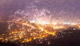 Abstrakt konst för bakgrundsnattsikt B Royaltyfri Foto