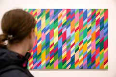 Abstrakt konst på moderna Tate, London Royaltyfri Bild