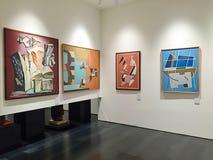 Abstrakt konst på samtida konstmuseet i Florence, Italien royaltyfria foton