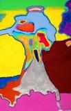 Abstrakt konstarbete för blandat massmedia Fotografering för Bildbyråer