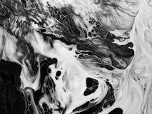 abstrakt konstbakgrund Oljemålning på kanfas Fragment av konstverk Fläckar av olje- målarfärg Penseldrag av målarfärg modern kons arkivbild