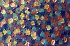 abstrakt konstbakgrund Oljemålning på kanfas Hand-målat Samtida konst Fragment av konstverk arkivfoto
