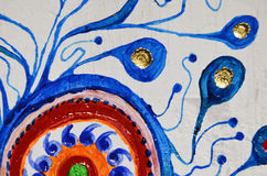 abstrakt konstbakgrund Oljemålning på kanfas Mångfärgad ljus textur Fragment av konstverk Royaltyfri Fotografi