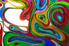 abstrakt konstbakgrund Oljemålning på kanfas Mångfärgad ljus textur Fragment av konstverk Royaltyfri Bild