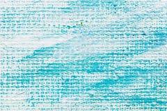 abstrakt konstbakgrund räcka målad kanfas i blått och vit c Fotografering för Bildbyråer