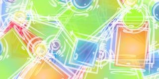 abstrakt konstbakgrundsformer Arkivfoto