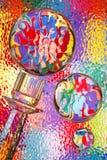 abstrakt konstfärgexponeringsglas arkivbild
