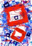 abstrakt konstfärgmålarfärg Arkivbild