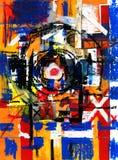 abstrakt konstfärgmålarfärg Arkivfoto