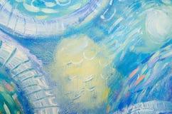 abstrakt konstmålning meno för lombok för giliindonesia ö nära den undervattens- världen för havssköldpadda Abstrakt målad bakgru Arkivfoto