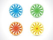 Abstrakt konstnärlig åtskillig färgrik cirkel Arkivfoton