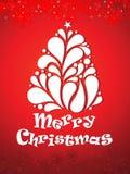 Abstrakt konstnärlig bakgrund för julträd Arkivbild