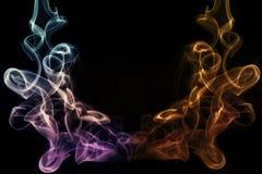 Abstrakt konstnärlig färgrik mjuk och slät rökeffektbakgrund royaltyfri illustrationer