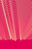 Abstrakt konstnärlig linjär bakgrund, raka rytmiska geometriska 3d linjer, modell för tema för textiltyg vektor illustrationer