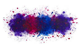 Abstrakt konstnärlig vattenfärgfärgstänk av målarfärgbakgrund, det djupa havet stock illustrationer