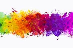 Abstrakt konstnärlig vattenfärgfärgstänkbakgrund Arkivbild