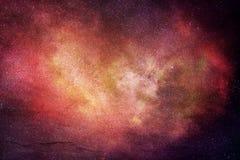 Abstrakt konstnärligt modernt Digital mångfärgat galaxkonstverk arkivbild