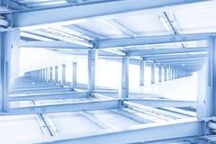 Abstrakt konstruktion för stålstråle, konstruktionsbegrepp Arkivfoto