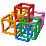 abstrakt konstruktionsplast- Arkivbilder