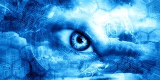 abstrakt konstteknologi Royaltyfri Fotografi