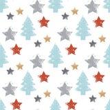 Abstrakt konstvektorbakgrund julen mönsan den seamless treen royaltyfri illustrationer