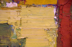 Abstrakt konstverk för olje- målning Fotografering för Bildbyråer