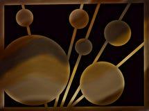 Abstrakt konstverk, målning, muskler Royaltyfri Illustrationer