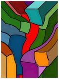 Abstrakt konstverk, målning som är färgrik Royaltyfri Illustrationer