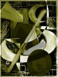 Abstrakt konstverk som målar Stock Illustrationer