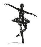 Abstrakt kontur av dansare royaltyfri illustrationer