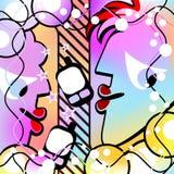 Abstrakt konversation Brokig version Royaltyfri Bild
