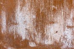Abstrakt korodował kolorowego czerwonego ośniedziałego metalu tło, ośniedziały spotykający Zdjęcia Stock