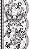 Abstrakt koronka z elementami motyle i kwiaty Zdjęcia Stock