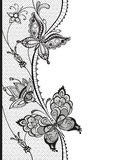 Abstrakt koronka z elementami motyle i kwiaty Obrazy Royalty Free