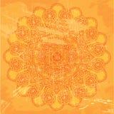 Abstrakt koronki wzór na pomarańczowym grunge tle Zdjęcie Stock