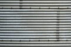 abstrakt korrugerat stål Arkivfoton