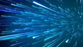 Abstrakt kosmisk bakgrund för fantasi 3D framf?r ?glasanimering Full HD royaltyfri illustrationer