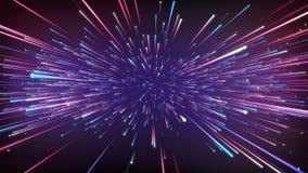 Abstrakt kosmisk bakgrund för fantasi 3D framf?r ?glasanimering 4k UHD stock illustrationer