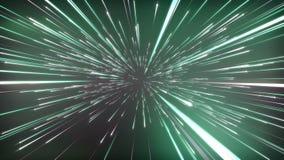 Abstrakt kosmisk bakgrund för fantasi 3D framf?r ?glasanimering 4k UHD royaltyfri illustrationer