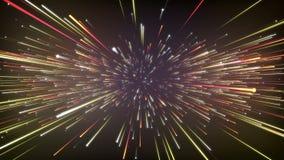 Abstrakt kosmisk bakgrund för fantasi 3D framf?r ?glasanimering 4k UHD vektor illustrationer