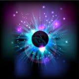 abstrakt kosmisk förmörkelse Arkivfoton