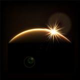 Abstrakt kosmisk soluppgång Royaltyfri Fotografi