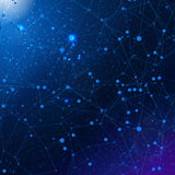 Abstrakt kosmisk vektorbakgrund Arkivbild
