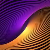 Abstrakt kosmiskt och att vrida linjer bakgrund Nano teknologistruktur, visuella effekter vektor illustrationer