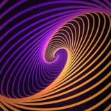 Abstrakt kosmiskt och att vrida linjer bakgrund Nano teknologistruktur, visuella effekter stock illustrationer