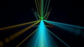 Abstrakt kretsa bakgrund med den kulöra stjärnan stock video