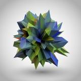 Abstrakt kristall 3D vektor illustrationer